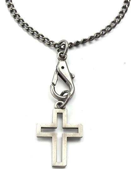 Guess Necklace - GUESS Wheat Chain with Toggle Closure & Open Cross Pendant