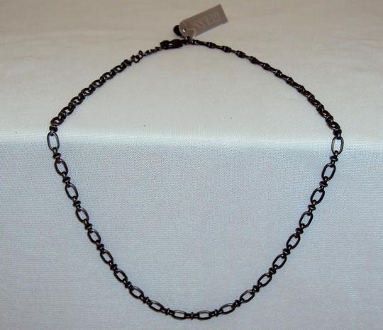 Guess Necklace - GUESS Branded Metal Chain with Figaro Style Links