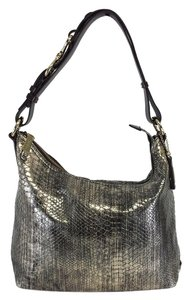 Cole Haan Metallic Snakeskin Print Handbag Hobo Bag