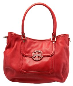 Tory Burch Leather Satchel in Orange