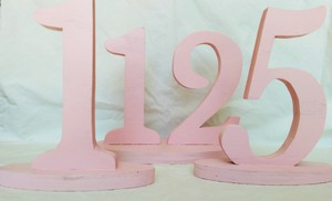 Wooden Table Numbers 1 - 15