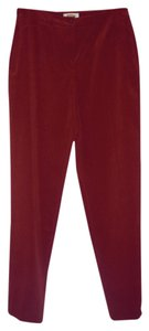 Talbots Stretchy Trouser Pants Burgundy