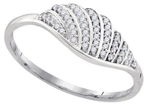 Other BrianG 10k WHITE GOLD 0.10 CTTW DIAMOND MICRO PAVE FASHION RING