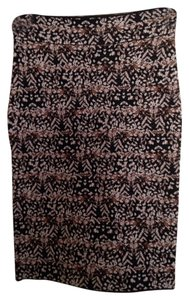 BCBGMAXAZRIA Skirt Black feather print