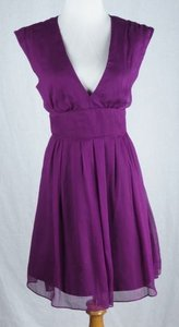 J.Crew short dress Spiced Wine Petite Abigail Silk Chiffon Pockets on Tradesy