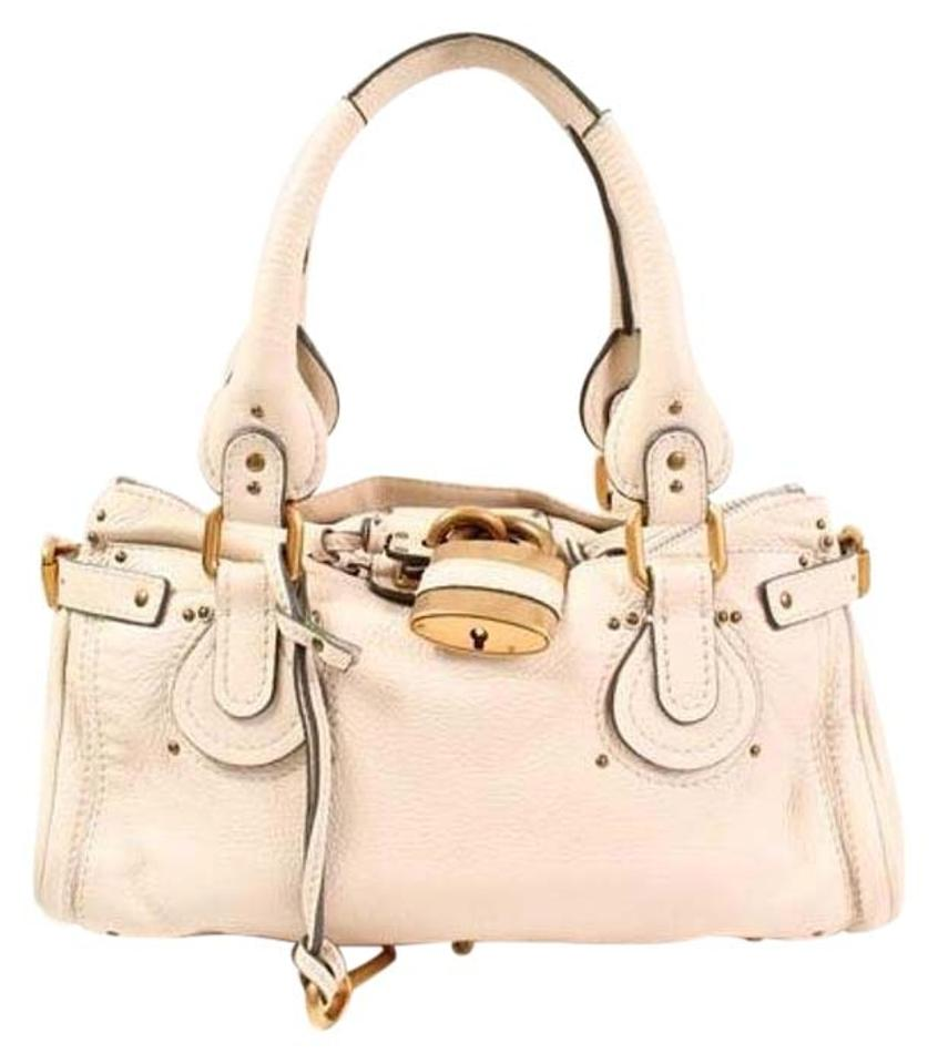 White Tote Handbag Leather White Handbag Chloé Chloé White Tote Leather Leather Handbag Chloé 0gw7PCqwx