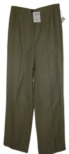 Talbots Trouser Pants Khaki Green