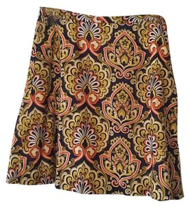 J.Crew Skirt Navy, orange, keylime, yellow, white.