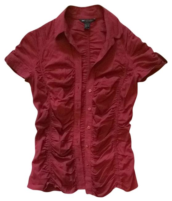 Preload https://item3.tradesy.com/images/mango-burgundy-button-down-top-size-10-m-1641347-0-0.jpg?width=400&height=650