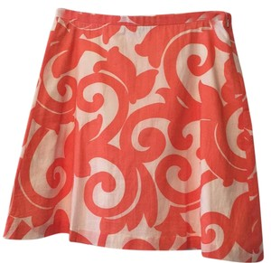 J.Crew Skirt Crisp White & Tangerine Orange