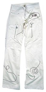 Punky Fish Joggers Warm Low Waist Boot Cut Pants Cream
