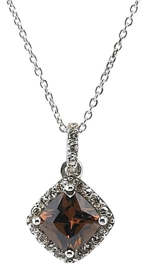 Other Better Than Chocolate Sterling Silver Necklace with Chocolate CZ Pendant