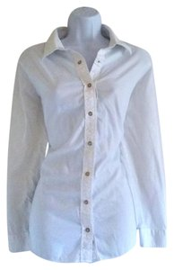 Izod Basic Business Casual Work Staple Button Down Shirt White