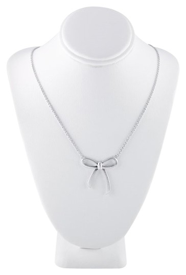 """Other Sterling Silver """"Diamond Dust"""" Bow Festoon Necklace"""
