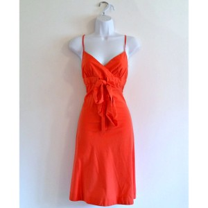 J.Crew short dress Orange Coral Soft Bow Strappy on Tradesy