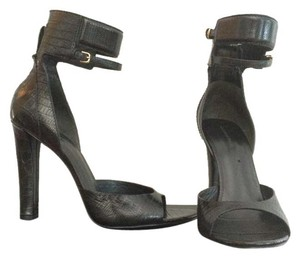 Alexander Wang Crocodile Embossed black Sandals