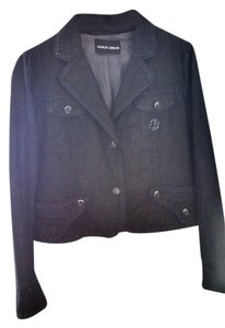 Giorgio Armani navy blue Womens Jean Jacket