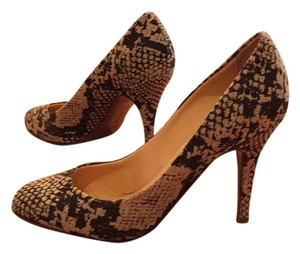 J.Crew Snakeskin pattern black and white Pumps