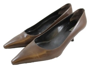 Prada Kitten Heels Penny Lane Heels Brown Pumps