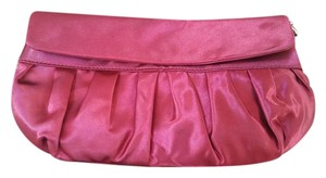 Ann Taylor LOFT Satin Evening Formal Night Out Red maroon Clutch