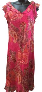 Tess Dress short dress Pink Paisley 100% Silk on Tradesy