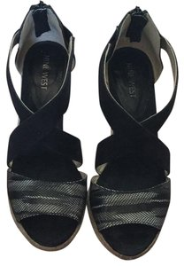 Nine West Sandal Summer Resort Vacation Black Wedges