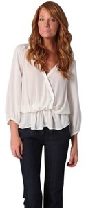 Joie Silk Wrap Top Ivory