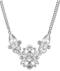 Givenchy Swarovski elements crystals sets in silver tone necklace