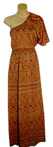 Rusty Orange Maxi Dress by Collective Concepts Maxi Reptile