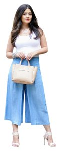 Rachel Roy Gauchos Wide Leg Pants Chambray