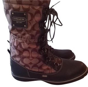 Coach Brown/Brown leather Boots