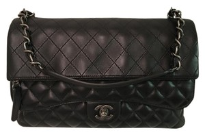 Chanel Quilted Leather Cc Turn Lock Shoulder Bag