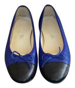 Chanel Blue/black Flats