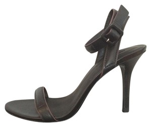 Alexander Wang Leather Pump Strappy Black Sandals