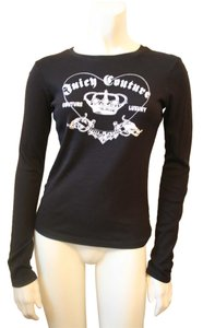 Juicy Couture Crown Black White Sweatshirt