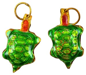 Other Brightly Colored Green Cloisonne Sea Turtle