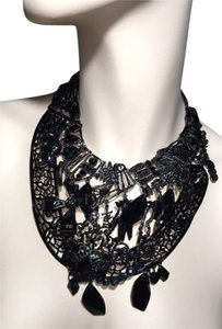 Christian Lacroix Over Sized Black Bib Necklace