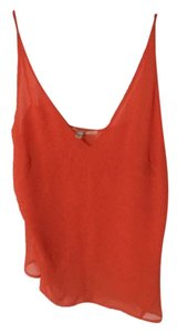 J Brand Sheer Top Sunset Orange