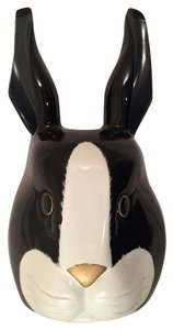 Timmy Woods Talkingfashion Whimsical Bunny Heirloom Bunny Novelty Handbag black and white Clutch
