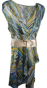Corey P short dress Multi blue-green print on Tradesy