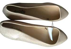 Charlotte Russe Sparkle Champagne Flats