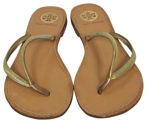 Tory Burch Thora Miller Eddie Caroline Gold Sandals