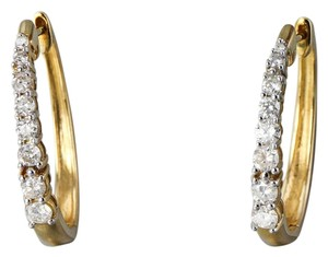 Diamond Hoop Earrings in 14K yellow gold * Diamond Addidas Hoop Earrings in 14K yellow gold