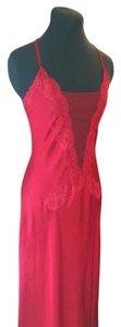 Red Maxi Dress by Victoria's Secret Lace Satin