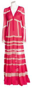 Fuschia Maxi Dress by BCBGMAXAZRIA Maxi Long Sleeve