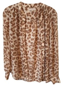 Banana Republic Leopard Top Tan/Beige