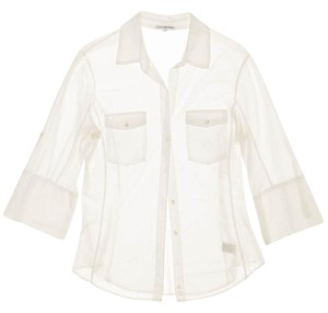 James Perse Button Down Button Down Shirt White