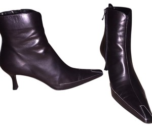 Donald J. Pliner Black with White Stitching Boots
