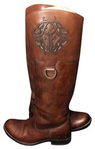 Frye 76435 Melissa Logo Brown Boots
