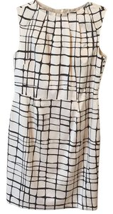 Banana Republic Brown And White Work Dress